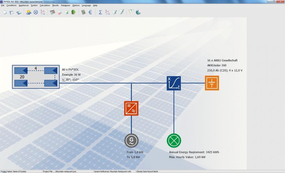 logiciel pv sol pro standalone simulation et estimation de la production photovolta que. Black Bedroom Furniture Sets. Home Design Ideas