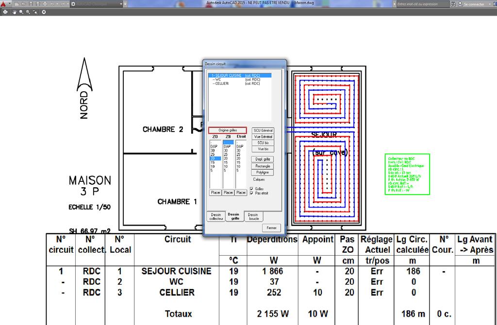 fisa pcr logiciel pour les calculs des planchers chauffants et rafra chissants selon la en 1264. Black Bedroom Furniture Sets. Home Design Ideas
